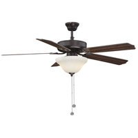 First Value 52 inch English Bronze with Walnut/Teak Blades Ceiling Fan in Cream Marble