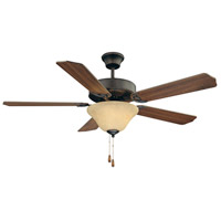Savoy House 52-ECM-5RV-13 First Value 52 inch English Bronze with Walnut/Chestnut Blades Ceiling Fan in Cream Marble