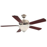 Savoy House 52-ECM-5RV-SN First Value 52 inch Satin Nickel with Rosewood/Maple Blades Ceiling Fan alternative photo thumbnail