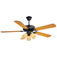 Savoy House First Value 52in Indoor Ceiling Fan in English Bronze with Walnut/Teak Blades 52-EUP-5RV-13WG