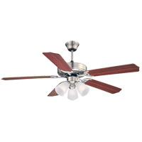 Savoy House 52-EUP-5RV-SN First Value 52 inch Satin Nickel with Rosewood/Maple Blades Ceiling Fan alternative photo thumbnail