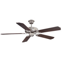 Builder Specialty 52 inch Satin Nickel with Chestnut Blades Ceiling Fan