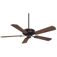 Builder Specialty 52 inch English Bronze with Walnut Blades Ceiling Fan