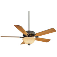 Savoy House 52-SGB-5RV-13 Barbour Island 52 inch English Bronze with Walnut/Teak Blades Ceiling Fan in Cream Frosted photo thumbnail