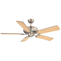 Pine Harbor 52 inch Satin Nickel with Maple/Chestnut Blades Ceiling Fan