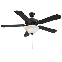 Savoy House 52-ECM-589-89 First Value 52 inch Matte Black with Black Blades Ceiling Fan