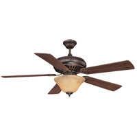 Peachtree 52 inch English Bronze with Walnut Blades Ceiling Fan in Cream Marble