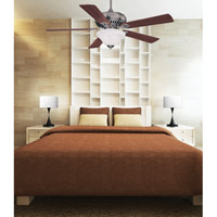Savoy House 52P-614-5WA-187 Peachtree 52 inch Brushed Pewter with Walnut Blades Ceiling Fan alternative photo thumbnail
