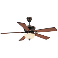 St. Simons 52 inch Old Bronze with Oak/Walnut Blades Ceiling Fan in Cream Scavo