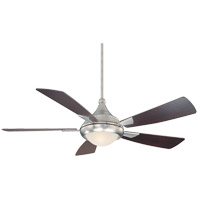 Zephyr 54 inch Satin Nickel with Chestnut Blades Ceiling Fan