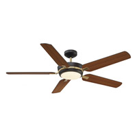 Montrose 54 inch English Bronze and Warm Brass with Chestnut/Teak Blades Ceiling Fan