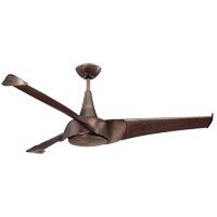 Ariel 55 inch Byzantine Bronze with Walnut Blades Ceiling Fan