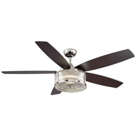 Phoebe 56 inch Polished Nickel with Chestnut Blades Ceiling Fan