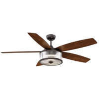 Phoebe 56 inch English Bronze with Walnut Blades Ceiling Fan