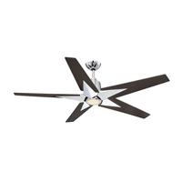 Savoy House 56-5075-5CN-11 Buckenham 56 inch Polished Chrome with Chestnut Blades Ceiling Fan