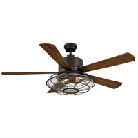 Connell 56 inch English Bronze with Walnut Blades Ceiling Fan