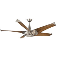 Savoy House 58-818-5CN-SN Ariel 58 inch Satin Nickel with Chestnut Blades Ceiling Fan photo thumbnail