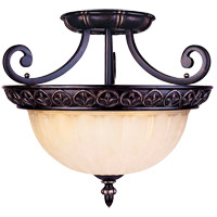 Savoy House Bedford 3 Light Semi-Flush in Distressed Bronze 6-049-3-59 photo thumbnail