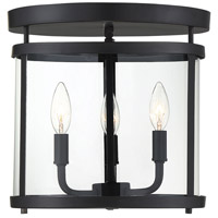 Savoy House 6-1043-3-BK Penrose 3 Light 13 inch Black Flush Mount Ceiling Light
