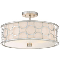 Savoy House 6-1162-3-34 Triona 3 Light 18 inch Silver Leaf Semi-Flush Ceiling Light, Convertible alternative photo thumbnail