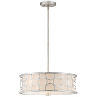 Triona 3 Light 18 inch Silver Leaf Semi-Flush Mount Ceiling Light, Convertible