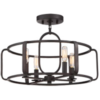 Savoy House 6-1182-4-13 Santina 4 Light 18 inch English Bronze Semi-Flush Ceiling Light, Convertible alternative photo thumbnail