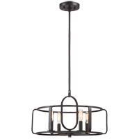 Santina 4 Light 18 inch English Bronze Semi-Flush Mount Ceiling Light, Convertible