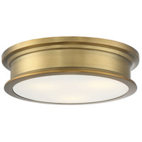 Savoy House 6-133-16-322 Watkins 3 Light 16 inch Warm Brass Flush Mount Ceiling Light