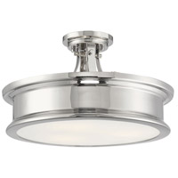 Savoy House 6-134-3-109 Watkins 3 Light 16 inch Polished Nickel Semi-Flush Mount Ceiling Light