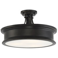 Savoy House 6-134-3-44 Watkins 3 Light 16 inch Classic Bronze Semi-Flush Mount Ceiling Light