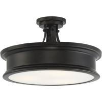 Savoy House 6-134-3-44 Watkins 3 Light 16 inch Classic Bronze Semi-Flush Mount Ceiling Light
