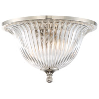 Aberdeen 2 Light 14 inch Polished Nickel Flush Mount Ceiling Light