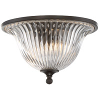Aberdeen 2 Light 14 inch Classic Bronze Flush Mount Ceiling Light