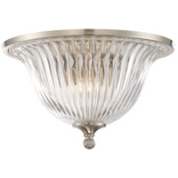 Aberdeen 2 Light 14 inch Satin Nickel Flush Mount Ceiling Light