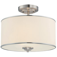 Grove 2 Light 14 inch Satin Nickel Semi-Flush Ceiling Light