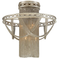 Savoy House Castello 6 Light Semi Flush Mount in Silver Sparkle 6-1631-6-307