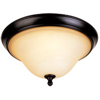 Sutton Place 2 Light 14 inch English Bronze Flush Mount Ceiling Light