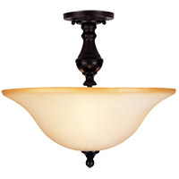 Sutton Place 3 Light 16 inch English Bronze Semi-Flush Ceiling Light