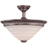 Savoy House Retro Thunder Semi-Flush in Brushed Pewter 6-20034-2-187 photo thumbnail