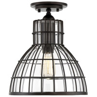 Savoy House 6-2101-1-13 Grant 1 Light 12 inch English Bronze Flush Mount Ceiling Light
