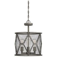 Savoy House 6-2163-3-119 Arbor 3 Light 15 inch Smoke Semi-Flush Mount Ceiling Light, Convertible