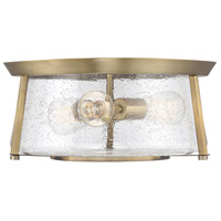 Savoy House 6-2182-16-322 Dash 3 Light 16 inch Warm Brass Flush Mount Ceiling Light