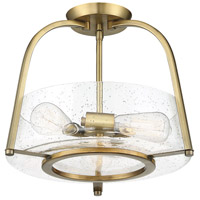 Savoy House 6-2183-3-322 Dash 3 Light 16 inch Warm Brass Semi-Flush Mount Ceiling Light alternative photo thumbnail
