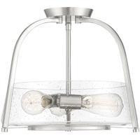 Savoy House 6-2183-3-SN Dash 3 Light 16 inch Satin Nickel Semi-Flush Ceiling Light