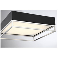 Savoy House 6-2190-14-SN Creswell LED 14 inch Satin Nickel Flush Mount Ceiling Light, Square alternative photo thumbnail