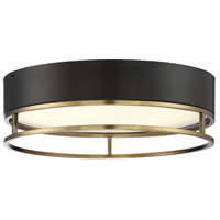 Savoy House 6-2191-15-322 Creswell LED 15 inch Warm Brass Flush Mount Ceiling Light Oval