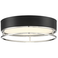 Savoy House 6-2191-15-SN Creswell LED 15 inch Satin Nickel Flush Mount Ceiling Light Oval