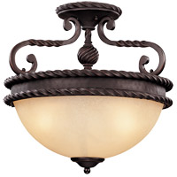 Savoy House San Gallo 3 Light Semi-Flush in Slate 6-2236-3-25