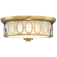 Savoy House 6-2390-14-322 Sherrill LED 14 inch Warm Brass Outdoor Flush Mount