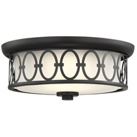 Savoy House 6-2390-14-89 Sherrill LED 14 inch Matte Black Outdoor Flush Mount